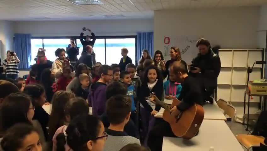 Media Calogero Répéttion avec les enfants d'Echirolles