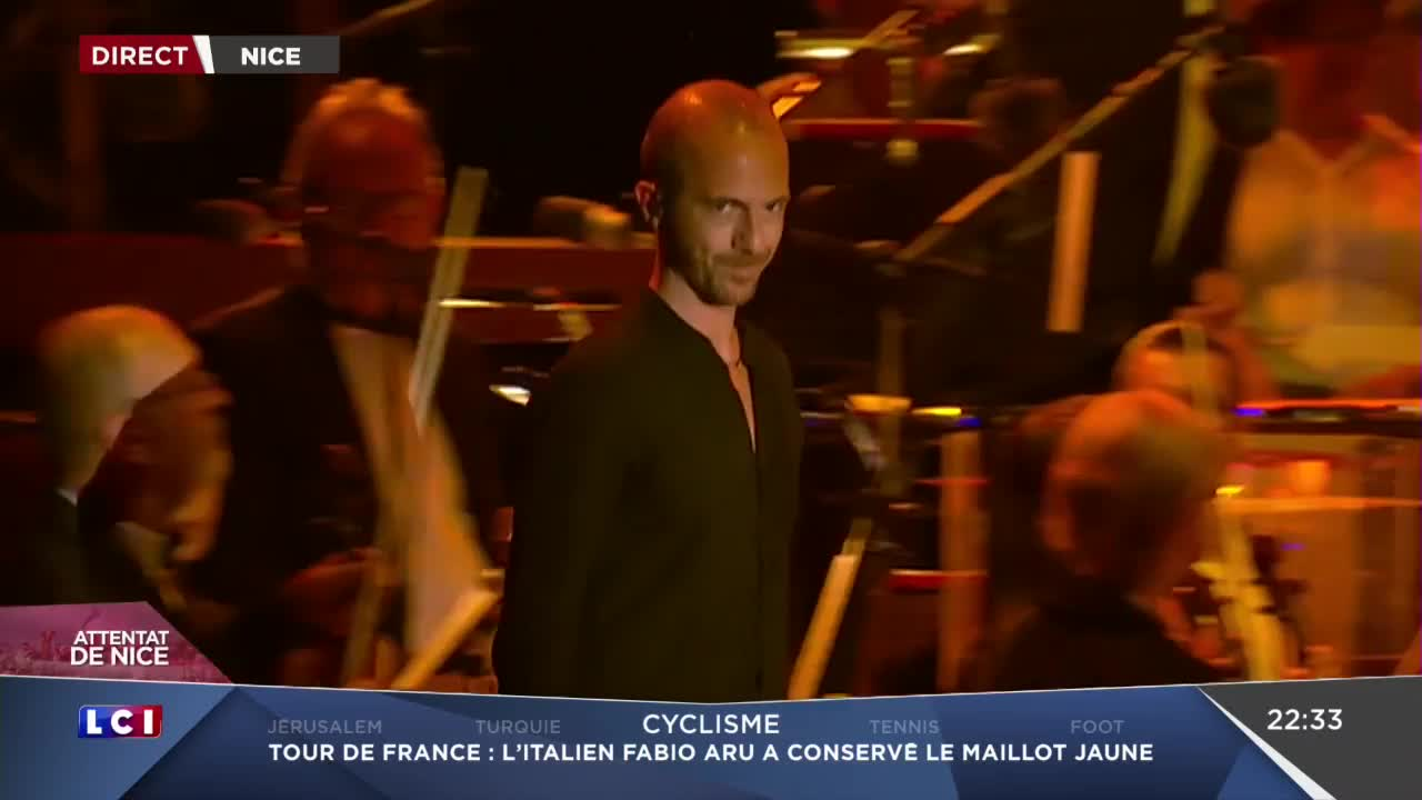 Media Calogero Hommage à Nice aux victimes de l'attentat